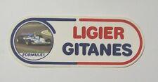 ADESIVO AUTO F1 anni '80 /Old Sticker Vintage LIGIER GITANES LAFFITE (cm 17x6)