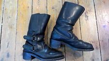CHIPPEWA USA MENS LEATHER MOTORCYCLE BOOTS SIZE 9.5 E US HARLEY DAVIDSON INDIAN