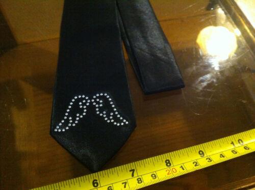 CLAIRE/'S Claire/'s accessoires cravate noire mignon deux oiseaux RRP £ 7 Neuf