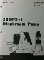 Homelite Diaphragm Pump Parts Manual 8pg 56dp3-1 111dp3-1 111dp2-1 Pond Water