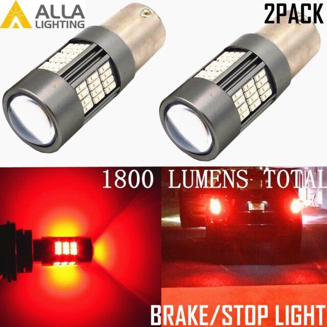 PACK OF 2 RED 382 19-LED BRAKE TAIL INDICATOR CAR LIGHT BULBS 12V