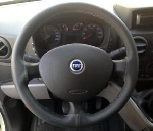 Prudent Couvercle Du Volant Fiat Doblò Cuir Véritable Anthracite
