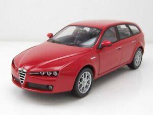 Alfa-Romeo-159-Sportwagon-2007-rot-Modellauto-1-24-Welly