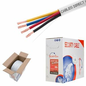 Fire-Security-Wire-Burglar-Alarm-22-4-Awg-Cable-1000ft-Stranded-White-Cable