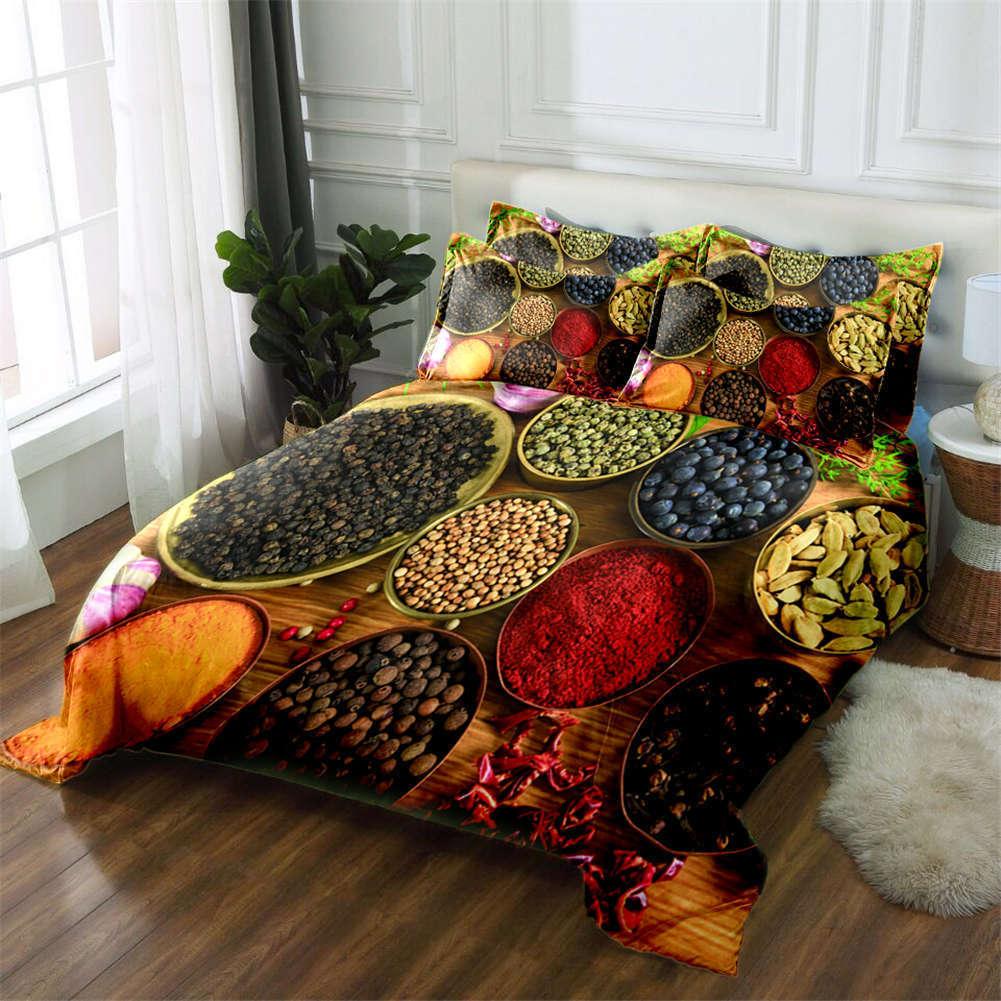 Coloreeful Grain 3D Printing Duvet Quilt Doona Covers Pillow Case Bedding Sets