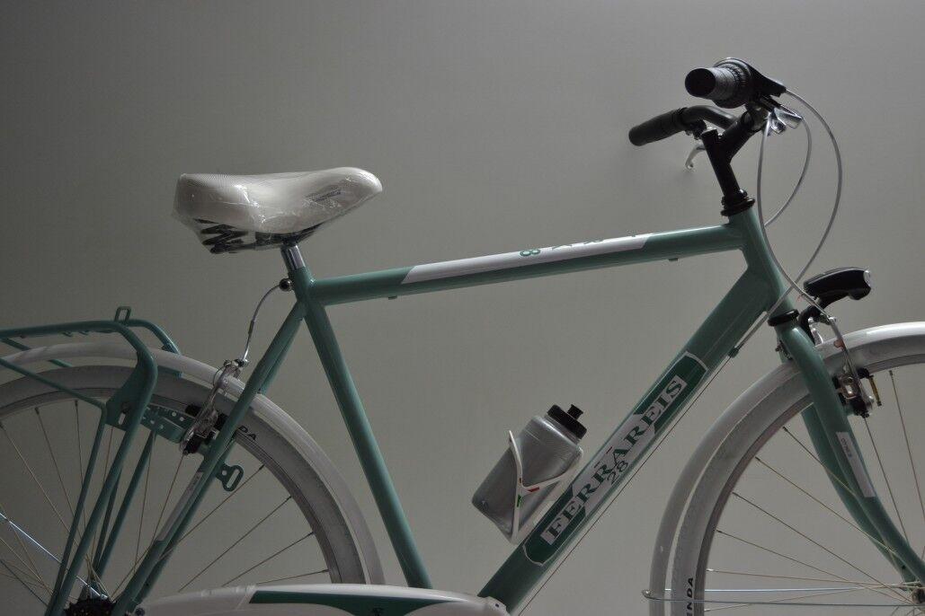 City bike  trekking passeggio stradale 28  hombre hombre hombre verde e bianco grigio 6v 3044f6