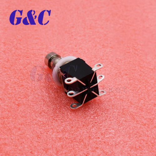Black 6PIN DPDT Momentary Stomp Foot Switch Guitar AC 250V//2A 125V//4A NEW
