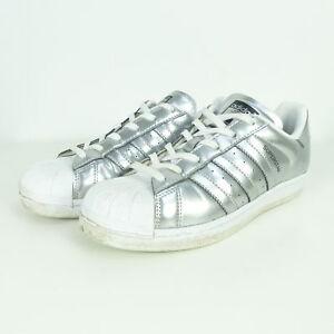 40ac0e63ae0d3d Das Bild wird geladen ADIDAS-Sneaker-Turnschuhe-Superstar-Silber-Weiss -Gr-EUR-