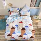 Castal Europe Single Double Queen King Bed Set Pillowcase Quilt Duvet Cover OauR