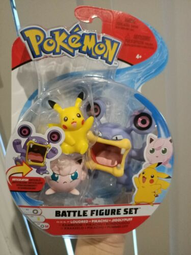 Pokemon WCT Wicked Cool Toys Loudred Pikachu Jigglypuff Battle Figure pack