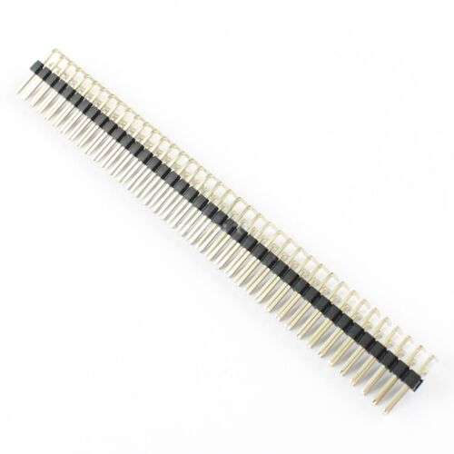 10Pcs 2.54mm Pitch 2x40 Pin 80 Pin Double Row Right Angle Male Header Strip