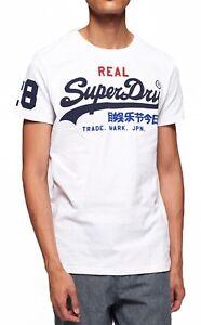 Superdry-Mens-Casual-Vintage-Logo-Tri-Crew-Neck-T-shirt-Cotton-Tee-Optic-White