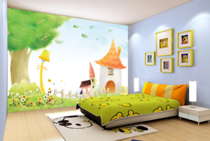 3D Cartoon Gras Himmel 588 Tapete Tapeten Mauer Foto Familie Tapete Wandgemälde