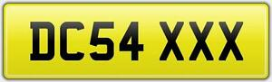DC54-XXX-CAR-NUMBER-PLATE-FULLY-LEGAL-DC-NEAT-REG-DJC-DMC-DAC-FEES-INCLUDED