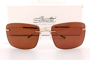 10128eb6b3 Image is loading New-Silhouette-Sunglasses-TMA-ICON-8691-6201-Gold-