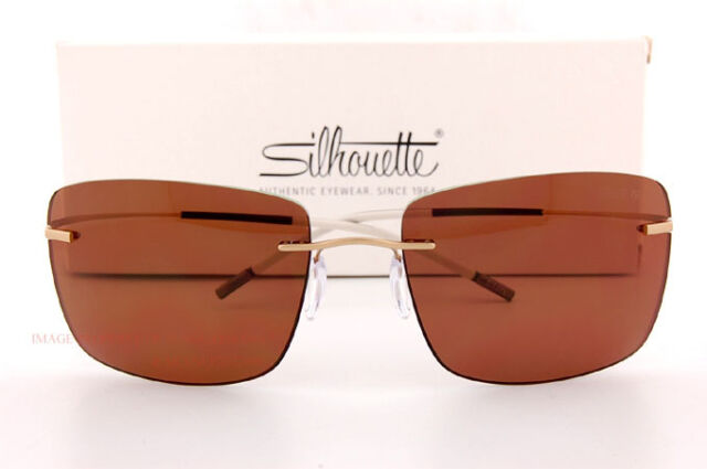 3a4ef86bf91 Silhouette TMA Icon 8691 Gold brown (6201 I) Sunglasses for sale ...