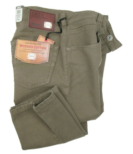 Joker Jeans Freddy in W32L30 Khaki with Stretch