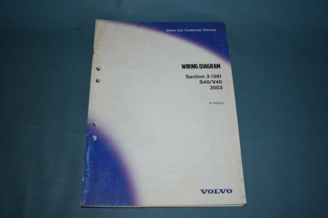 Volvo V40 2003 User Wiring Diagram