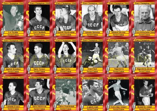 Union Soviétique 1960 championnat d/'europe des vainqueurs de cartes à collectionner Football Euro 1960