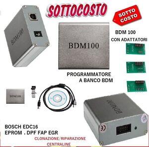BDM 100 PER CENTRALINE RIMAPPATURA  EDC16/17 DPF/ FAP/ EGR  PROGRAMMATORE