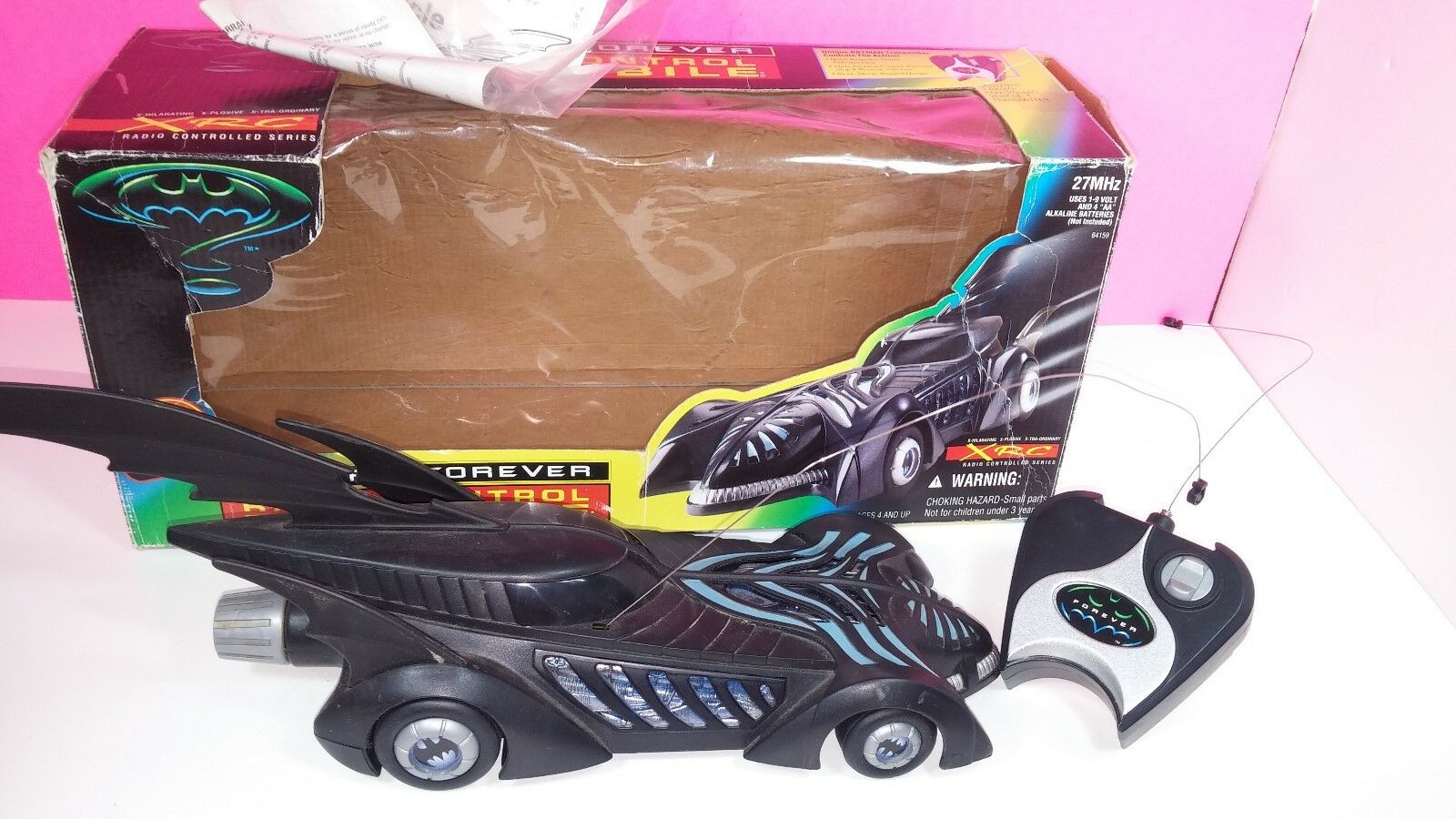 Batman Forever Radio Controlled Controlled Controlled Batmobile 1995 Kenner Vintage Action Figure d1d594