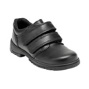 Start Rite 'rotieren' Jungen Schwarzes Leder Klettverschluss Befestigung Schuhe