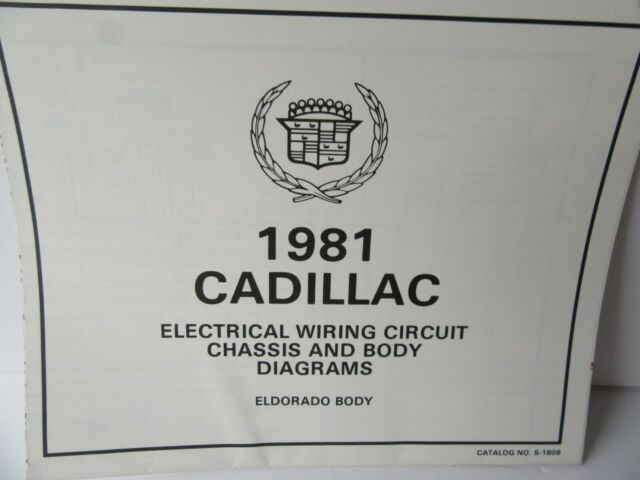 1981 Cadillac Electrical Wiring Circuit Chassis  U0026 Body Diagrams Eldorado Body Gm