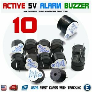 10pcs-Active-Buzzer-Magnetic-5V-Long-Continous-Beep-Tone-12-9-5mm-For-Arduino
