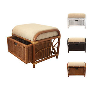 rattan ottoman footstool storage vanity bench model jerry 1box with cushion. Black Bedroom Furniture Sets. Home Design Ideas
