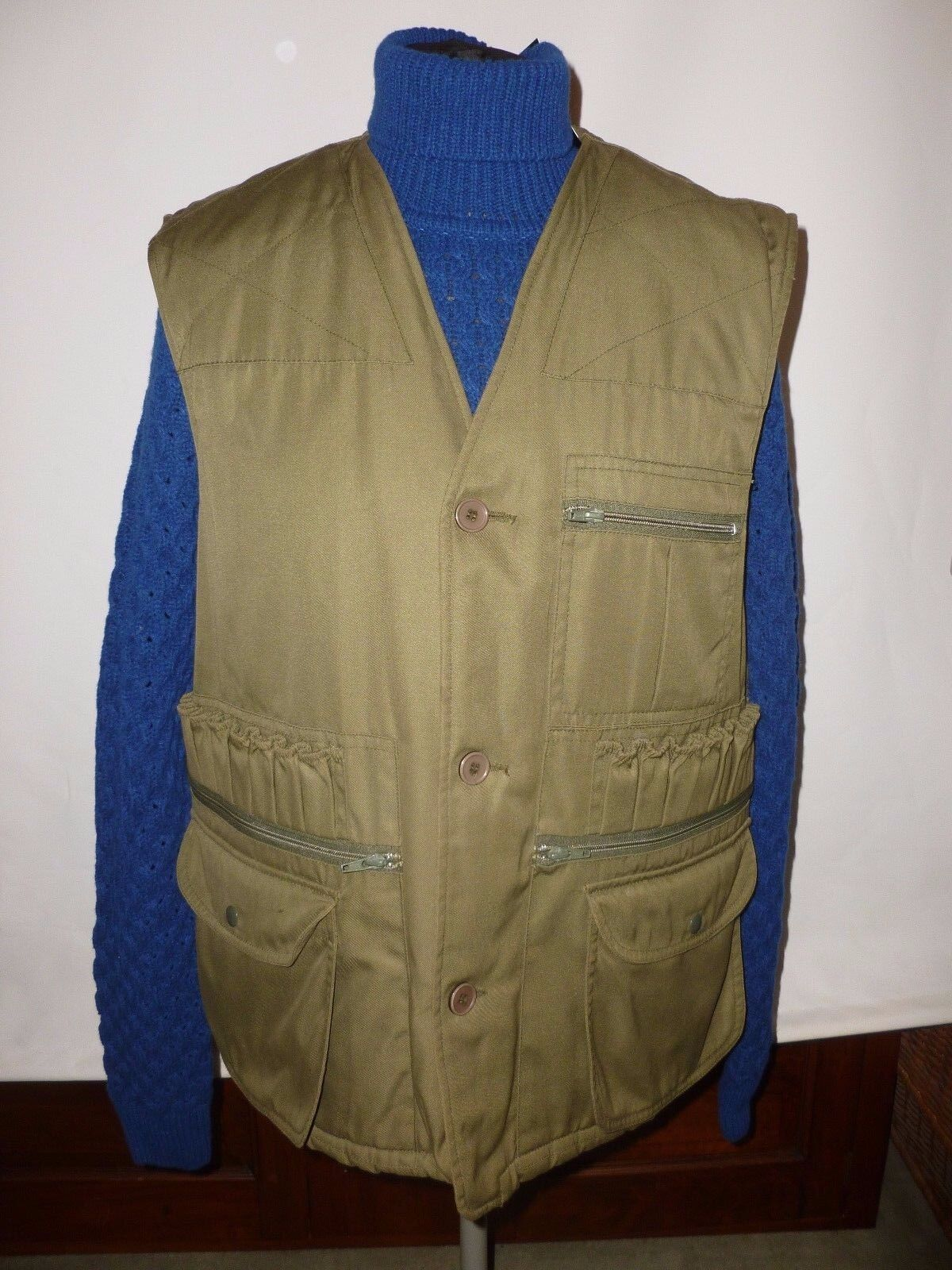 CHAMPION Grün SHOOTING VEST WITH FAUX FUR LINING  SIZE UK M   PIT TO PIT 24
