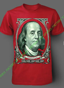 New Benjamin Franklin Big Money 100 Bill T Shirt Gangster