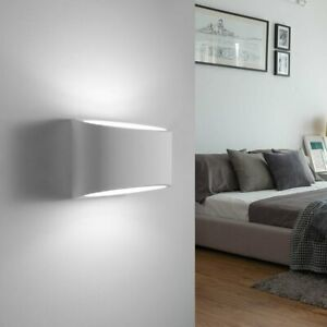 Details zu Wandleuchte Wand-Lampe Strahler Spot Flur-Licht Grau Wohnzimmer  Beleuchtung LED