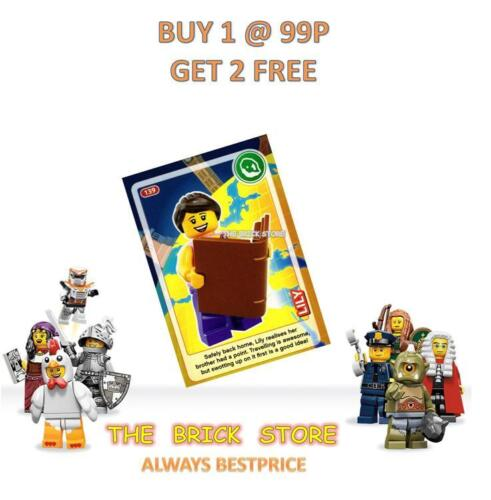 LEGO #139 LILY WITH BOOK CREATE THE WORLD TRADING CARD NEW BESTPRICE GIFT