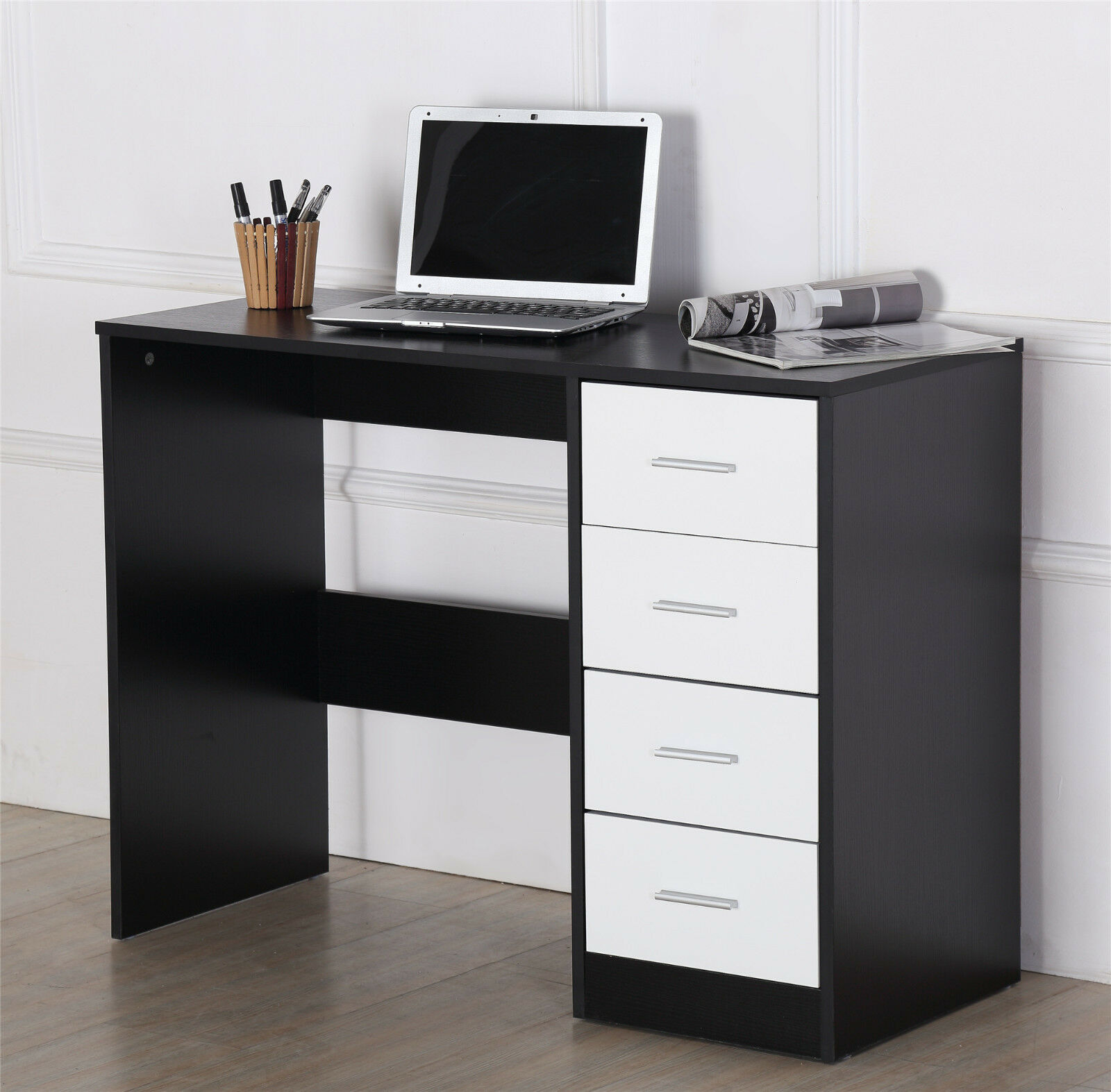 ossotto high gloss 4 drawer dressing table vanity computer study