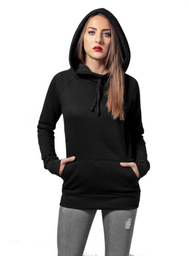Urban Classics Sweat-Shirt Damen High Neck Raglan Kapuzen Hoodie TB-1526 Neu