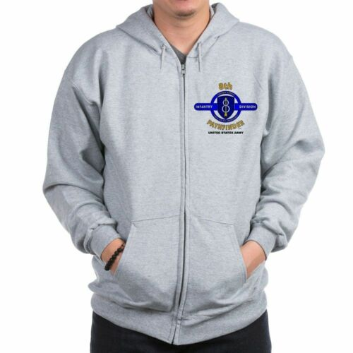 8TH INFANTRY DIVISION CAMPAIGNS  2-SIDED LEFT CHEST//BACK EMBLEM ZIPPER HOODIE