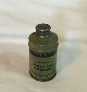 Vintage-Advertising-Tin-WYETH-039-S-FIRST-AID-POWDER-Tin-JOHN-WYETH