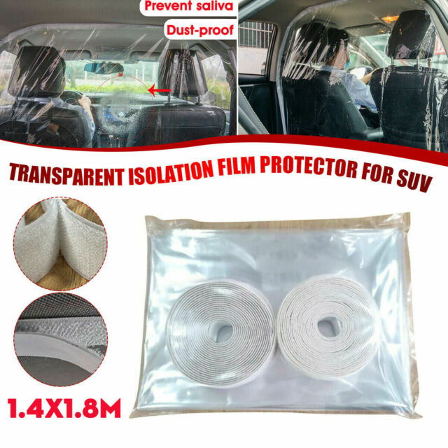Fully Enclosed Transparent Isolation Curtain Protective Film Sealed Self-Adhesive Partition Curtain for Cars Phomnd Car Isolation Film Anti-Droplet Taxies