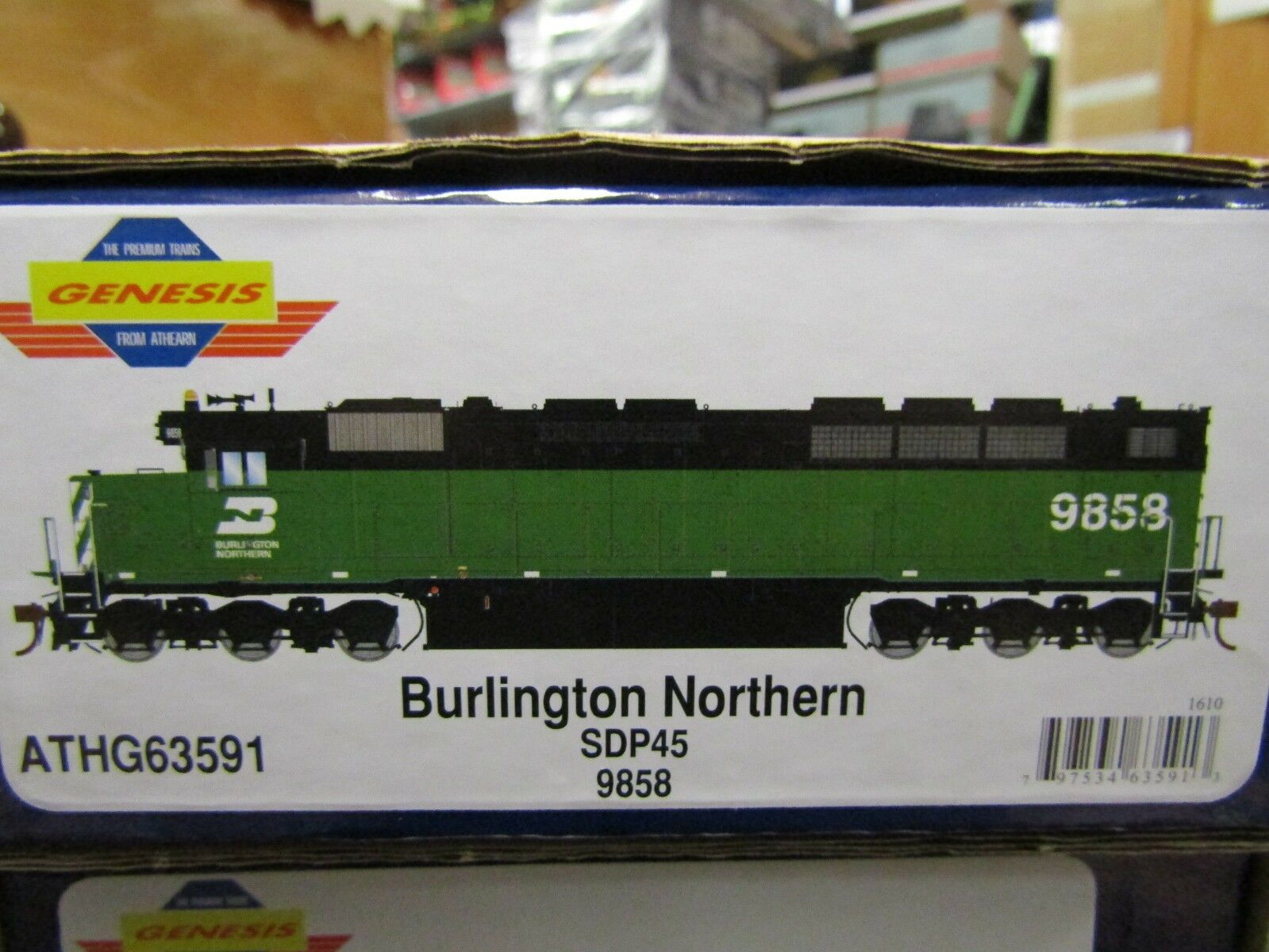 Athearn G63591 Burlington Northern SDP45 HO DC, Dcc Listo RD NO.9858