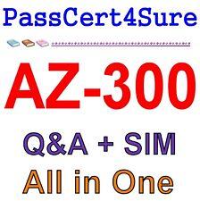 Best Exam Practice Material for AZ-300 Exam Q&A+SIM