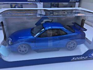 Solido 1804301 o 1804302 Nissan Skyline R34 GTR Bayside Blu/Drift HKS ADVAN