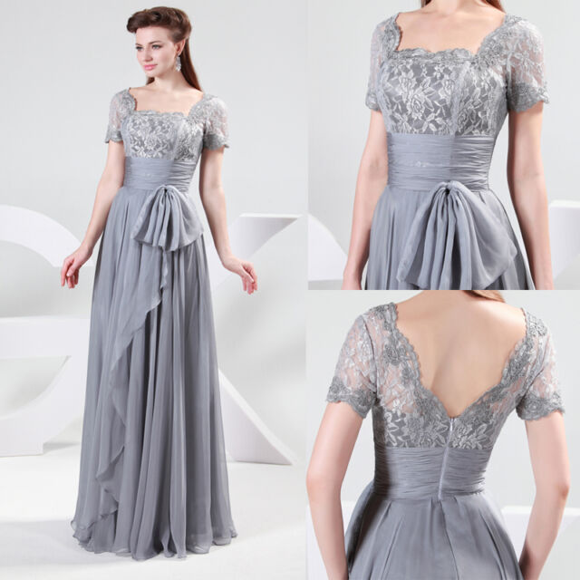 Unique Lace Womens Formal Long Bridesmaid Gown Party Cocktail Evening Prom Dress