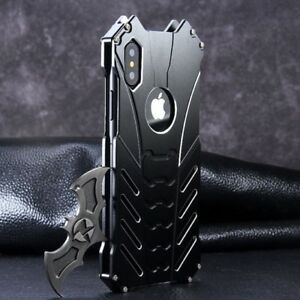 R-JUST-Aluminum-Metal-Hybrid-Armor-Bumper-Case-Cover-For-iPhone-Xs-Max-XR-7-8
