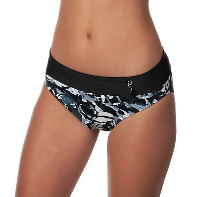 Panache Tao Camouflage Fold-Over Bikini Swimsuit Swim Bottom Swimwear MRSP $30