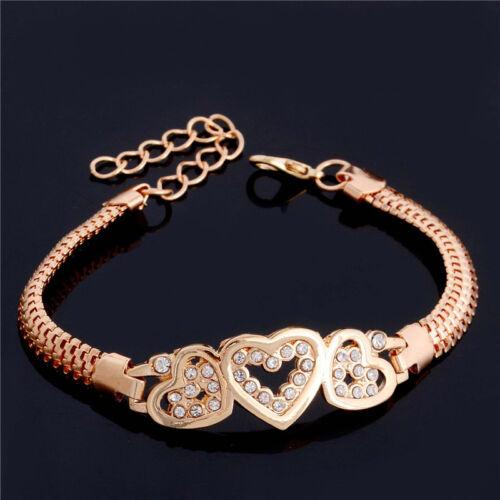 Nouveau Jaune Dangle Lien Chaîne Bracelet Bracelet Bangle Femmes Mariage Bijoux