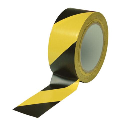 "2/""x36 yd PVC 6Mil OSHA Black//Yellow 1Roll Vinyl Floor Safety Marking Tape"