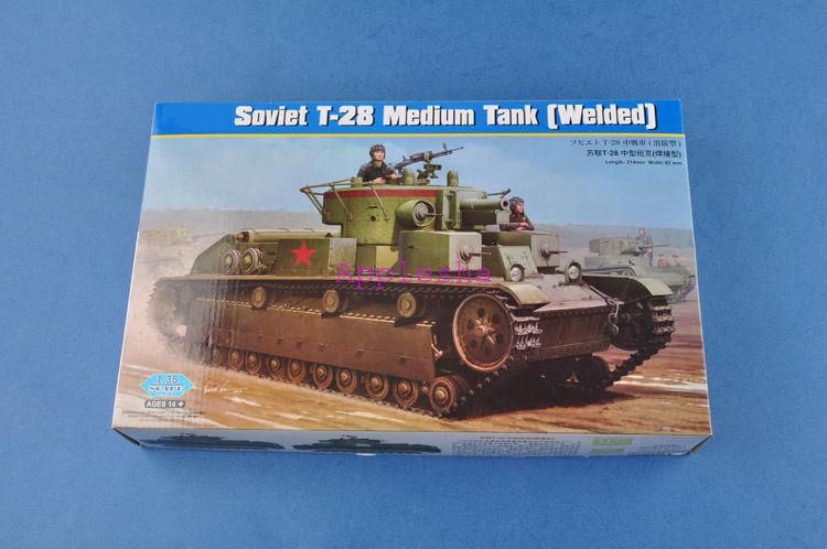 Hobbyboss 1 35 Scale 83852 Soviet T-28 Medium Tank (Welded) Model Kit