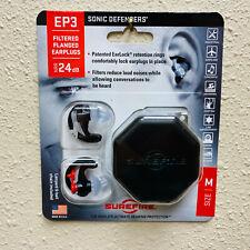 NEW EP3 Hearing Protectors Sonic Defenders EP3-BK-MPR