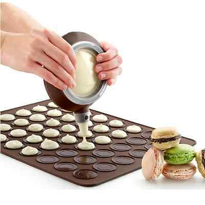 Silicone Pastry Macaron  Mat Sheet  Decorating Pen Mould  Baking Tool Set Kit