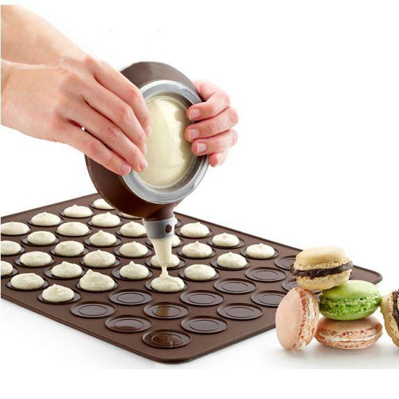 Silicone Pastry Macaron  Mat Sheet  Decorating Pen Mould  Baking Tool Set Kit
